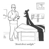 """Avoid direct sunlight."" - New Yorker Cartoon Premium Giclee Print by Paul Noth"