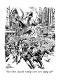 """""""Just when citywide reading scores were edging up!"""" - New Yorker Cartoon Premium Giclee Print by Ed Fisher"""