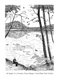 By Strategic Use of Postcards, Thoreau Manages to Keep Walden Pond Unspoiled - New Yorker Cartoon Premium Giclee Print by J.B. Handelsman