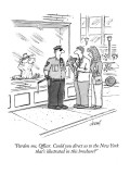 """Pardon me, Officer.  Could you direct us to the New York that's illustrat…"" - New Yorker Cartoon Premium Giclee Print by Tom Cheney"