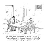 """I'm neither a good cop nor a bad cop, Jerome.  Like yourself, I'm a compl…"" - New Yorker Cartoon Premium Giclee Print by Mick Stevens"