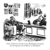 """Gosh, it kills me to do this to you, Worthington, but you're not turning …"" - New Yorker Cartoon Premium Giclee Print by Robb Armstrong"
