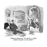 """Anthony Houserman, I've found, is a fairly reliable barometer of the market."" - New Yorker Cartoon Premium Giclee Print by James Stevenson"