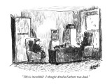"""This is incredible! I thought Amelia Earhart was dead."" - New Yorker Cartoon Premium Giclee Print by Robert Weber"