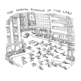 THE ANNUAL RUNNING OF THE CABS - New Yorker Cartoon Premium Giclee Print by John O'brien