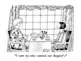 """I want my ashes scattered over Bergdorf's."" - New Yorker Cartoon Premium Giclee Print by Victoria Roberts"