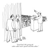 """Good God!  He's giving the white-collar voters' speech to the blue collars."" - New Yorker Cartoon Premium Giclee Print by Joseph Farris"