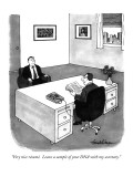 """Very nice résumé.  Leave a sample of your DNA with my secretary."" - New Yorker Cartoon Premium Giclee Print by J.B. Handelsman"