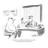 """You take two of these at the first sign of the onset of boardroom turbule…"" - New Yorker Cartoon Premium Giclee Print by Donald Reilly"