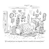 """If I could pick just one keepsake, I think it would be the mutual funds."" - New Yorker Cartoon Premium Giclee Print by Barbara Smaller"