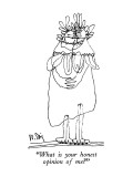 """What is your honest opinion of me?"" - New Yorker Cartoon Premium Giclee Print by William Steig"