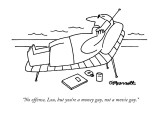 """""""No offense, Lou, but you're a money guy, not a movie guy."""" - New Yorker Cartoon Premium Giclee Print by Charles Barsotti"""