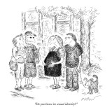 """Do you know its sexual identity?"" - New Yorker Cartoon Premium Giclee Print by Edward Koren"