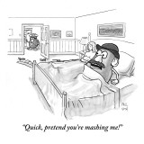 """Quick, pretend you're mashing me!"" - New Yorker Cartoon Premium Giclee Print by Paul Noth"