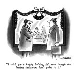 """I wish you a happy holiday, Ed, even though the leading indicators don't …"" - New Yorker Cartoon Premium Giclee Print by Henry Martin"