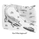 """Karl! What happened?"" - New Yorker Cartoon Premium Giclee Print by Mick Stevens"