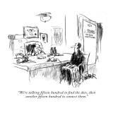 """We're talking fifteen hundred to find the dots, then another fifteen hund…"" - New Yorker Cartoon Premium Giclee Print by Robert Weber"