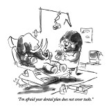 """""""I'm afraid your dental plan does not cover tusks."""" - New Yorker Cartoon Premium Giclee Print by Sidney Harris"""