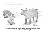 """You know you have my support on pork and beans, but where do you stand on…"" - New Yorker Cartoon Premium Giclee Print by Leo Cullum"