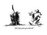 """Job!  I hear you've got a book out!"" - New Yorker Cartoon Premium Giclee Print by Lee Lorenz"