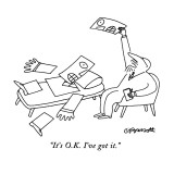 """It's O.K. I've got it."" - New Yorker Cartoon Premium Giclee Print by Charles Barsotti"