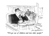 """I'd get out of children and into older people."" - New Yorker Cartoon Premium Giclee Print by Bernard Schoenbaum"