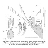"""O.K., Mom, I'm off the plane. I'll call you when I check into the hotel, …"" - New Yorker Cartoon Premium Giclee Print by Kim Warp"