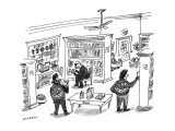 Punks with 'Hell's Bibliophiles' jackets in a book store. - New Yorker Cartoon Premium Giclee Print by Michael Maslin