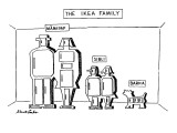 The Ikea Family - New Yorker Cartoon Premium Giclee Print by Stuart Leeds