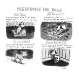PRESCHOOLS FOR DOGS - New Yorker Cartoon Premium Giclee Print by Roz Chast