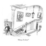 """Money, I'm home!"" - New Yorker Cartoon Premium Giclee Print by Barry Blitt"