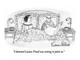 """I dreamed Lucian Freud was coming to paint us."" - New Yorker Cartoon Premium Giclee Print by Victoria Roberts"