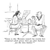 """Listen to this: 'Extensive research has recently been completed which pro…"" - New Yorker Cartoon Premium Giclee Print by Al Ross"