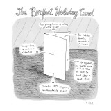 """The Perfect Holiday Card"" - New Yorker Cartoon Premium Giclee Print by Roz Chast"