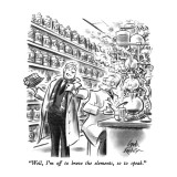 """Well, I'm off to brave the elements, so to speak."" - New Yorker Cartoon Premium Giclee Print by Ed Fisher"