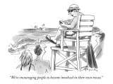 """We're encouraging people to become involved in their own rescue."" - New Yorker Cartoon Premium Giclee Print by Mike Twohy"