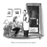 """Will he ever be able to produce revenue again?"" - New Yorker Cartoon Premium Giclee Print by Frank Cotham"