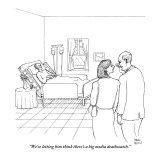 """We're letting him think there's a big media deathwatch."" - New Yorker Cartoon Premium Giclee Print by Paul Noth"