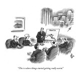 """This is where things started getting really weird."" - New Yorker Cartoon Premium Giclee Print by Frank Cotham"