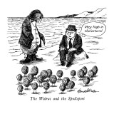The Walrus and the Spoilsport - New Yorker Cartoon Premium Giclee Print by J.B. Handelsman