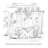 """""""If it says to add water, and I'm the one who adds it, I'm cooking."""" - New Yorker Cartoon Premium Giclee Print by Barbara Smaller"""