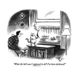 """What the hell was I supposed to do? I've been declawed!"" - New Yorker Cartoon Premium Giclee Print by Frank Cotham"