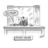 Power Failure - New Yorker Cartoon Premium Giclee Print by Tom Cheney
