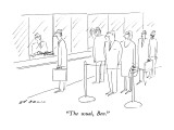 """""""The usual, Ben."""" - New Yorker Cartoon Premium Giclee Print by Ed Arno"""