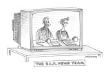 The 6 A.M.. News Team - New Yorker Cartoon Premium Giclee Print by Mick Stevens