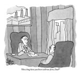 """How long have you been with our firm, Dad?"" - New Yorker Cartoon Premium Giclee Print by Gahan Wilson"