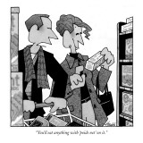 """You'll eat anything with 'poids net' on it."" - New Yorker Cartoon Premium Giclee Print by William Haefeli"