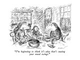 """I'm beginning to think it's salsa that's causing your mood swings."" - New Yorker Cartoon Premium Giclee Print by Edward Koren"