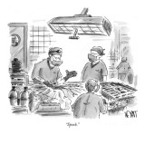 """Spork."" - New Yorker Cartoon Premium Giclee Print by Christopher Weyant"
