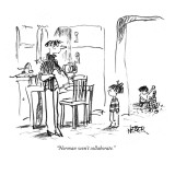 """Norman won't collaborate."" - New Yorker Cartoon Premium Giclee Print by Robert Weber"